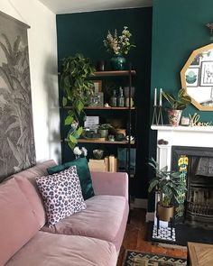 How To Use Dark Green in Your Living Room - Melanie Jade Des.- How To Use Dark Green in Your Living Room – Melanie Jade Design How To Use Dark Green in Your Living Room — Melanie Jade Design - Dark Green Living Room, Dark Living Rooms, Living Room Goals, New Living Room, Home And Living, Green Living Room Ideas, Feature Wall Living Room, Small Living, Teal Dining Rooms