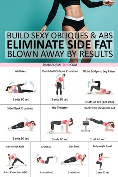 👊Best Exercise to Eliminate Side Fat and Build Sexy Obliques & Abs! You'll be Blown Away by Thes