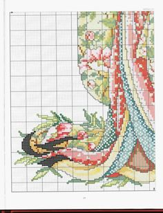 Borduurpatroon Kruissteek Vrouw *Cross Stitch Pattern Woman ~Oriental Odyssey Geisha 4/5~