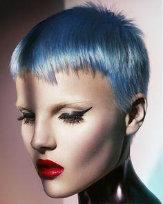 Mark Leeson - short blue straight hair styles (20717)