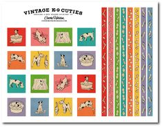 love the vintage Free puppy printables (dog party, baby boy, etc. Free Baby Shower Printables, Free Printable Stickers, Party Printables, Free Printables, Printable Labels, Cat Template, Free Puppies, Puppy Birthday, Puppy Party