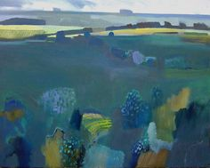 'Welsh Hills, Spring' oil on board 24 x 30 inches 'Light Ridge' oil on canvas 24 x 30 inches