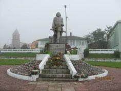 Fisherman Monument at  St. Pierre Et Miquelon, France.