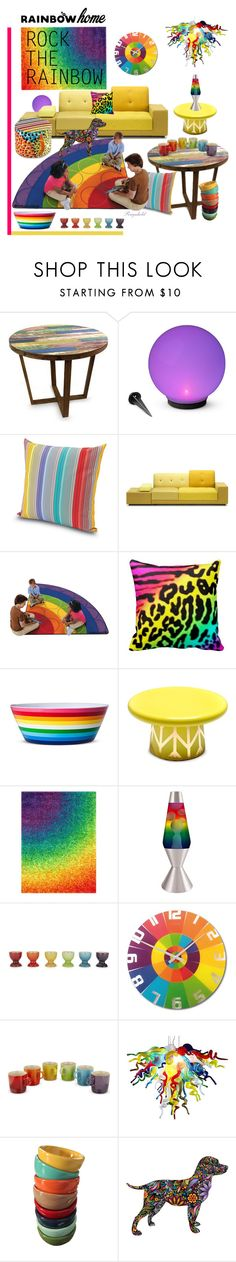 """""""Rainbow Home"""" by ragnh-mjos ❤ liked on Polyvore featuring interior, interiors, interior design, home, home decor, interior decorating, NOVICA, Improvements, Missoni Home and Polder"""