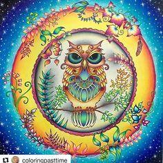 Que perfeição!  Tím @coloringpasttime  #johannabasford #florestaencantada…