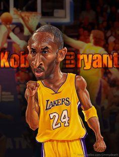 caricature of Kobe Bryant on devianart | Artwork by Jiang Ming