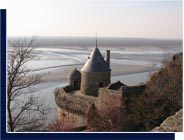 Places to visit in the Mont Saint-Michel : the ramparts path