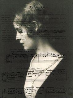 Woman music sheet