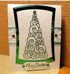 Memory Box Christmas Tree in green metallic by jasonw1 - Cards and Paper Crafts at Splitcoaststampers