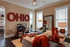 Those letters would be neat in an Ohio State inspired game room, without having all the usual buckeye fare... Brick Italianate for sale Germantown OH 3