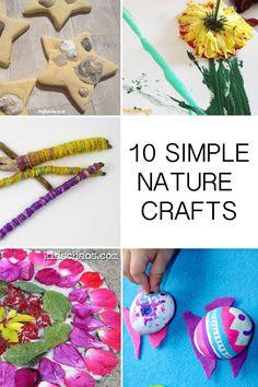 10 simple nature crafts