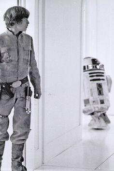 Star Wars Droids Droid Robot Robots Luke Skywalker Sci-Fi Science Fiction Fantasy Empire Strikes Back Episode V Star Wars Film, Star Trek, Star Wars Love, Star Wars Art, Mark Hamill, Harrison Ford, Amour Star Wars, Tableau Star Wars, Humour Geek