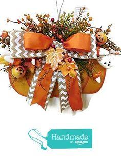 Fall Pumpkin Door Hanging, CUTE Pumpkin Wall Decor, Rustic Pumpkin Door Hanging, Decorative Pumpkin, Orange Pumpkin Sign, Autumn Country Pumpkin from Heart to Heart Creations https://www.amazon.com/dp/B01JR31X4M/ref=hnd_sw_r_pi_dp_M8eWxbN4HRNAT #handmadeatamazon