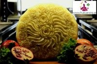 Cheese carving(graviera from Crete) by Pavel Pavlidis Σκάλισμα σε γραβιέρα Κρήτης www.fruitcarving.gr
