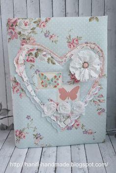 """Hanifi handmade: Блокноты сердечные в стиле """"Шебби"""""""