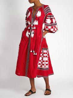 Bird embroidered linen midi dress | Vita Kin | MATCHESFASHION.COM