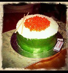 Photos: Fan Birthday Cakes! #sushiroll #sushi #happybirthday