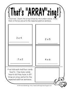Classroom Freebies: Arrays as Repeated Addition Freebie!