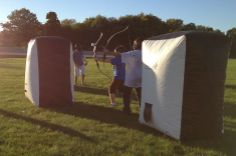 Want something new and out of the ordinary for your child's next party or fundraiser? Try Archery Tag®! Recommended for ages 10 and up, the game rules combine dodgeball, tag and archery using patented foam-tipped arrows! Find out more at http://archerytag.com/home