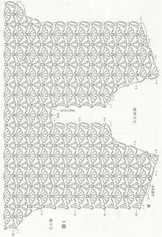 Crochetpedia: Crochet Short Dresses Or Long Shirts - Diy Crafts Gilet Crochet, Crochet Shirt, Crochet Jacket, Diy Crafts Knitting, Diy Crafts Crochet, Crochet Shawl Diagram, Crochet Motif, Crochet Tops, Crochet Short Dresses
