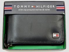 Tommy Hilfiger Slim Zip Around Wallet and Valet Originally $35 #TommyHilfiger #Bifold