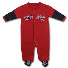 Boston Red Sox Infant Sports Shoe Sleeper - Red 0-3m, 3-6m, 6-9m - $24.95