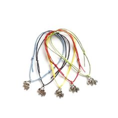 5 Anchor Charm Friendship Bracelets Nautical Hen Party
