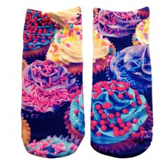 Living Royal 'Cupcakes' ankle sock From The Plus Size Fashion Community On www.VintageAndCurvy.com