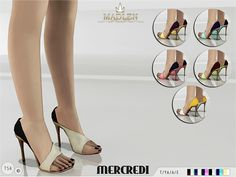 The Sims Resource: Madlen Mercredi Shoes by MJ95 • Sims 4 Downloads
