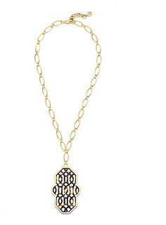 Tory Burch Chantal Perforated Pendant Necklace on shopstyle.com.au