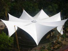 Parque Público. Cercha radial,espacial, liviana. Dome Structure, Membrane Structure, Fabric Structure, Shade Structure, Magazine Architecture, Concept Architecture, Modern Architecture, Sail Canopies, Tensile Structures
