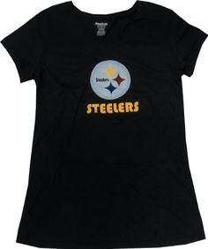Pittsburgh Steelers Logo Women s Maternity Black Reebok V-neck T-shirt -  Large NFL c19e1ca58