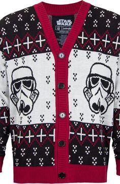 Storm Trooper Cardigan: Star Wars Mens Cardigan Sweater