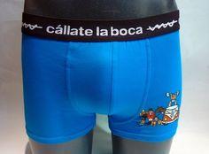 Boxer azul cállate la boca - furgolimpico azul - Boxer en marino con estampaciones de personajes relacionados con el mundo del deporte - Ref: 46926 BLUE.#calzoncillos #hombre #modahombre #ropainterior http://www.varelaintimo.com/marca/5/callate-la-boca