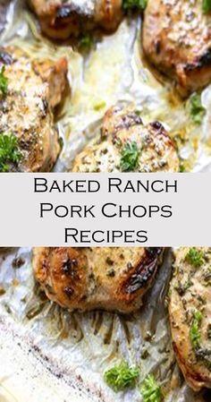 Baked Ranch Pork Chops Recipe #Cake #Recipe #Yummy #Chicken Cake Recipes For Beginners, Dog Cake Recipes, Jello Recipes, Cake Recipes From Scratch, Easy Recipes, Easy Meals, Cooking Recipes, Healthy Recipes, Easy Vanilla Cake Recipe