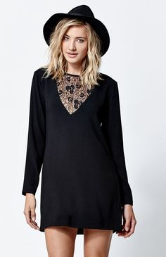 Lace Inset Mini Dress
