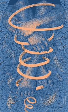 "Illustration ""Spiral"" | legs | hands | blue | digital | drawing  beauty | body Spiral, Kids Rugs, Hands, Legs, Digital, Drawings, Illustration, Blue, Beauty"