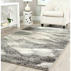 Safavieh Retro Modern Abstract Grey/ Ivory Rug (5' x 8') #Safavieh