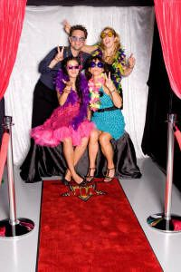 Photo Booth with a V.I.P Backdrop. Most kids want to fell like they are a star!