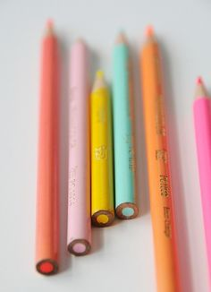 Colourful pencils    Live a luscious life with LUSCIOUS: www.myLusciousLife.com