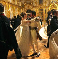 Clémence Poésy as Natasha Rostova and Alessio Boni as Prince Andrej Bolkonsky inWar and Peace (TV Mini-Series, 2007).