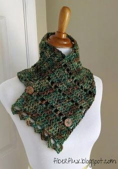 *Free Crochet Pattern:  Earth Fairy Button Cowl!