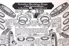 Another vintage jewelry ad! Beautiful drawings of beautiful rings!