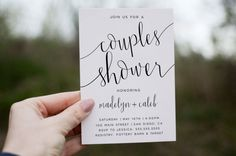 Couples Shower Invitation Printable digital by lovelypapershop