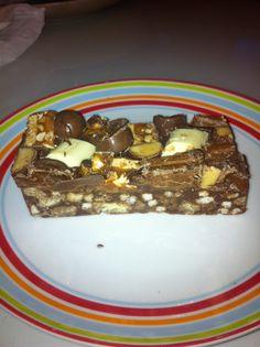 Chocolate bar heaven. Rocky road. Food. Horsforth