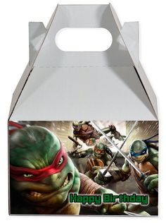 World of Pinatas - Teenage Mutant Ninja Turtles Personalized Gable Box (set of 6), $11.99 (http://www.worldofpinatas.com/teenage-mutant-ninja-turtles-personalized-gable-box-set-of-6/)