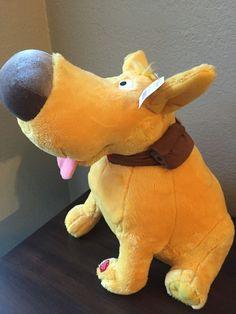 Disney Up Dug Talking Puppy Dog Plush Stuffed Animal Yellow Sound Doug NWT #Disney