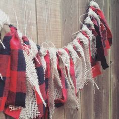 The Lumberjack fabric garland. Lumberjack party by EclecticSoirees