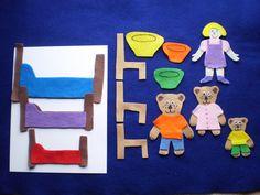 Goldilocks and the 3 Bears Felt Board Set Flannel Board Stories, Felt Board Stories, Felt Stories, Felt Board Templates, Fairy Tale Crafts, Nursery Rhymes Preschool, Bear Felt, Kindergarten Language Arts, Goldilocks And The Three Bears