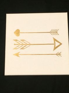 Golden Arrow Canvas Painting